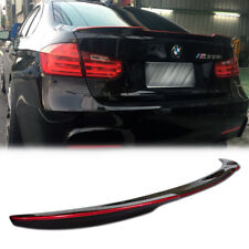 CARBON FIBER +RED Line FOR BMW M3 F30 F80 4DR REAR BOOT TRUNK SPOILER 12-16