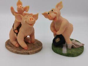 Pigs Galore 2 Figures The Leonardo Collection Pigs Galore PIGS GALORE Figurines.