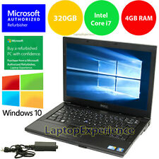 DELL LAPTOP WINDOWS 10 PC Core i7 2.4Ghz 4GB RAM WiFi DVDRW NOTEBOOK 320GB HD