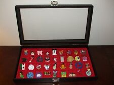 (36) Collectible Disney Pins with Display Case