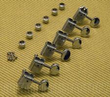 WJ-55-6C Wilkinson Deluxe 6 Inline Chrome Vintage Tuners for Fender Strat/Tele®