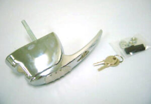 1940 Ford Car Standard Deluxe CHROME Locking Deck Lid Handle '40 with Base