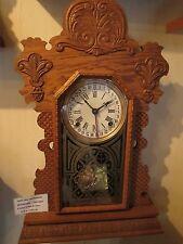 1890 INGRAHAM GINGER CLOCK ***WITH CALENDAR*** OAK CASE