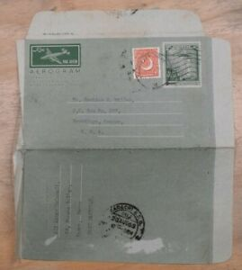 Mayfairstamps Pakistan 1950s upated to Brookings OR Uprated Aerogramme wwp10257