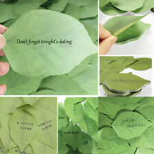 100pc Good Sale Exquisite Leaves Post it Sticky Notes Cute Sticker Leave Message