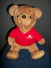 Lacoste Parfums Red Shirt Teddy Bear 2010 Limited Edition Plush Stuffed Animal