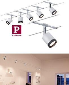 Paulmann LED Seilsystem TubeLED 5x4W Chrom Matt-Chrom Schwenkbar UVP 99,95€