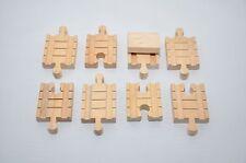 Vintage Thomas wooden CLICKETY-CLACK Tracks :  SHORT CONNECTORS (set of 8)