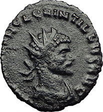 QUINTILLUS 270AD Rome VIRTUS Manliness Nice Authentic Ancient Roman Coin i58658
