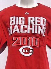 2010 Cincinnati Reds BIG RED MACHINE 2 sided red T-Shirt w/ Roster on back sz XL