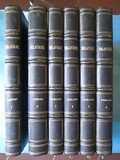 Casimir DELAVIGNE : POESIES + THEÂTRE en 6 volumes bien reliés, 1833/1845.