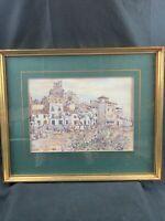 Vintage Original Gerald Palmer Impressionist Watercolor Signed Framed