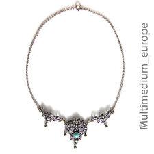 Silber Trachten Halskette Türkis Erbskette alt vintage silver necklace turquoise