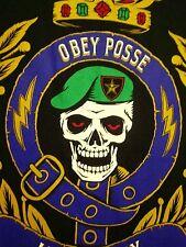 OBEY POSSE med T shirt Royal Marines Corps skatebrd tee UK infantry Green Berets
