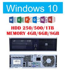 HP Compaq dc7900 SFF PC Intel Core2Duo E8400 Windows 10 Pro+Office 2019