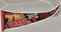 Chicago Bulls Felt Pennant Record Setting Season 72-10 1995-96 NBA VTG