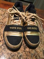 Gilbert Arenas Gold & Black Adidas Shoes Vote For Gilbert Size 9.5