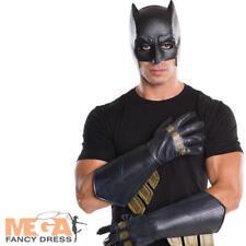 Batman adulti Guanti Guanti Supereroe Linea Uomo Costume Accessorio Nuovo