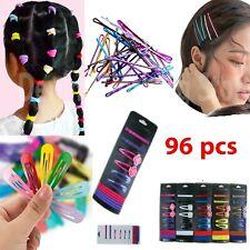 96 pcs Hair Ties Ponytail Holder Rose Snap Hair Clips Mixed Bobby Pin Set Lots