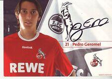 FOOTBALL carte joueur  PEDRO GEROMEL équipe FC COLOGNE signée