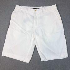 Polo Ralph Lauren Mens Size 36 White Flat Front Bermuda Summer Shorts