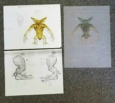 GREMLINS 2: THE NEW BATCH Rick Baker COLOR TESTS Concept Art