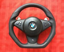 BMW M5 M6 E60 E61 E63 E64 LCI SMG PADDLE CUSTOM MADE FLAT BOTTOM STEERING WHEEL