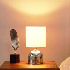 Mini Chrome Finish Metal Table Lamp Bedside Study Office Bedroom Living Room