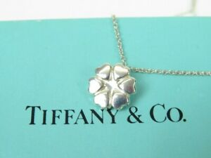 TIFFANY&Co. Paloma Picasso Clover Necklace Silver Silver925Women 11022 excellent