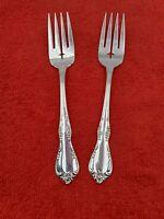 2 Fredericksburg Community Oneida Silverplate Salad Forks Silverware