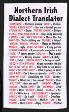 Northern Irish Dialect Tea Towel - Idea Gift - Joke - Secret Santa