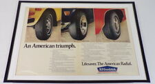 1972 BF Goodrich Tires 12x18 Framed ORIGINAL Vintage Advertisement