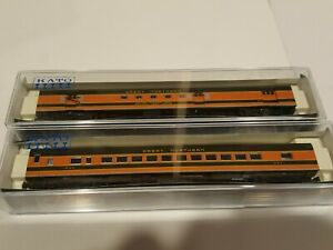 N Scale Kato Great Northern Empire Builder Smooth Side Passenger cars