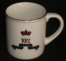 "VRI Canadian Royal Regiment Mug Cup Vintage Gold Trim 3.5"" Crown"