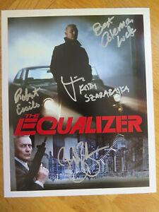 The Equalizer Cast Crew Genuine Signed 10 8 Photo Keith Szarabajka William Zabka