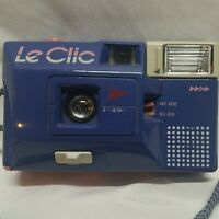 Le Clic Disc Camera - 80s Rare blueish Purple &Pink- Untested