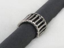 Silver Tone Multi Row Metal Bar Ring s1183 Jewelry