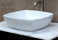 Bathroom White Ceramic Porcelain Vessel Vanity Sink + **FREE Pop Up Drain** 7068