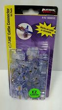 Platinum Tools 100003C Ez-Rj45® Cat5/5e Connectors, Clamshell pack of 50