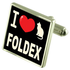 I Love My Cat Sterling Silver 925 Cufflinks Foldex