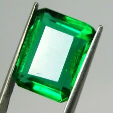 Loose Emerald Gemstone 9-10 Ct Natural Certified Green Muzo Emerald