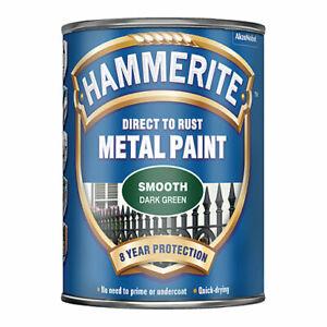 HAMMERITE Direct To Rust Metal Paint 750ml Smooth Dark Green