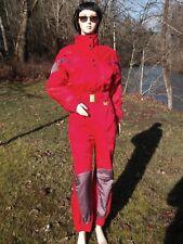COULOIR SKI SUIT 8 ONE PIECE NYLON SNOWSUIT USA 8 RED PURPLE GREY NWOT