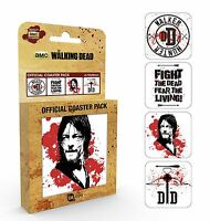 Walking Dead Coaster Pack Brand New Novelty Gift Daryl Dixon Crossbow Set of 4