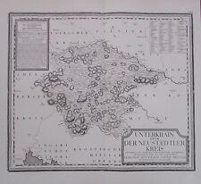Kindermann: Unterkrain Neustaedtler Kreis 1796 - Reprint Karte