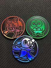 Pokemon Sun & Moon Theme Deck Collector COIN - LITTEN/ROWLETT/POPPLIO - NEW