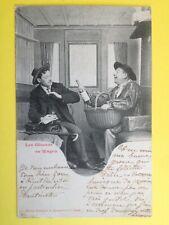 cpa 1900 Phot. BERGERET & Cie NANCY Les Gêneurs en Wagon VIN Wine TRAIN