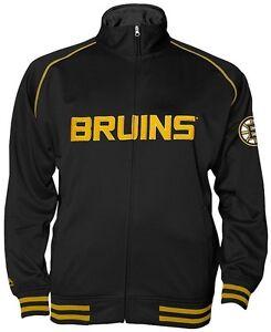 Boston Bruins NHL Mens Full Zip Center Ice Track Jacket Black Big & Tall Sizes