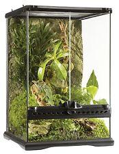 Tall Glass Reptile Snake Cage Frog Iguana Lizard Habitat Waterproof Terrarium