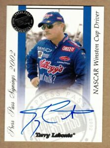 2002 PRESS PASS SIGNINGS TERRY LABONTE